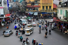 Vietnam, Hanoi, Verkehrsknotenpunkt
