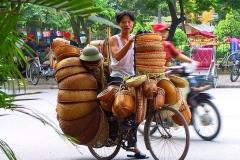 Hanoi, Korbverkäufer
