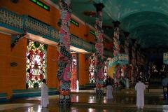 Tay Ninh, Cao Dai Tempel, Innenansicht